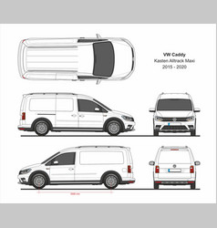 vw caddy kasten alltrack maxi 2015-present vector image