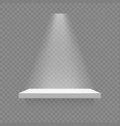 White shelf isolated vector