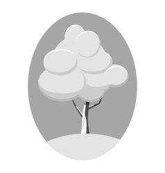 Winter tree icon gray monochrome style vector