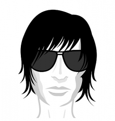 Young mans face vector