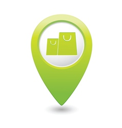 bag icon map pointer green vector image