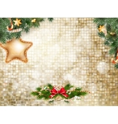 Christmas bells Background EPS 10 vector image vector image