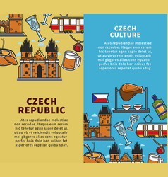 czech republic culture commercial travel agency vector image