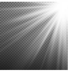 Light effect rays burst light isolated on vector