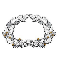 acorn frame border vector image vector image