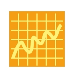 Bell Curve on Graph vector image