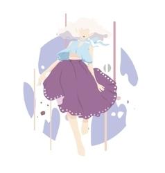 dancing woman background vector image