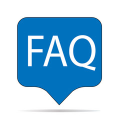 faq icon on white background faq sign flat vector image vector image