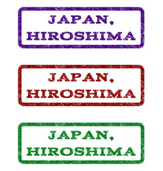 japan hiroshima watermark stamp vector image