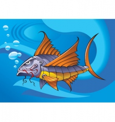 mechanical fish vector image vector image