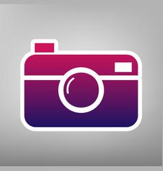 digital photo camera sign purple gradient vector image vector image