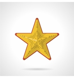 Flat style icon for yellow starfish vector image vector image