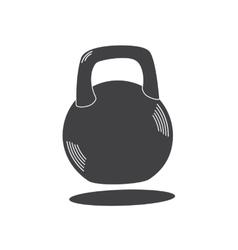 Monochrome kettlebell icon vector image