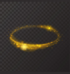 Round shiny frame background Gold circle light vector image