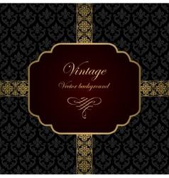 Vintage background vector image vector image