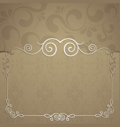 beautiful frame for design vector image vector image