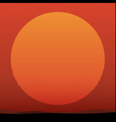 beautiful sunset with huge sun vector image