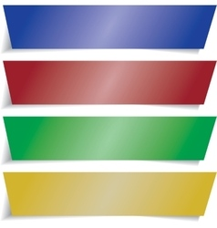 colorful infographics banners vector image