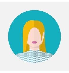 female nordic avatar vector image
