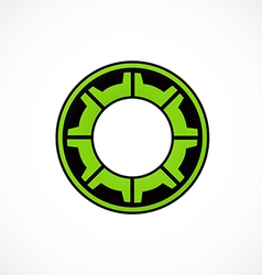 gear cog engine abstract logo vector image