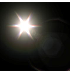Light flare special effect vector image