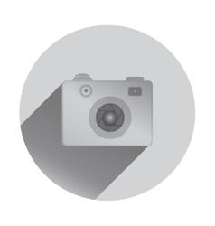 Retro camera icon with shadows flat design vector image vector image