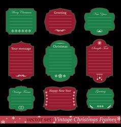 set of vintage christmas frames vector image