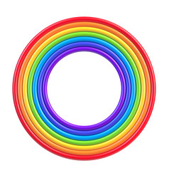 abstract colorful rainbow circle frame vector image