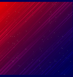 Abstract technology red and blue laser rays light vector