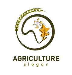 Agriculture company logo design vector
