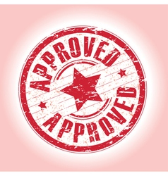 Approved red vector