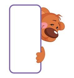 Baby animal banner bear cartoon label vector