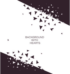 background with hearts poster card vector image