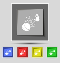 Basketball icon sign on original five colored vector image