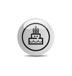 Birthday icon in a button on a white background vector