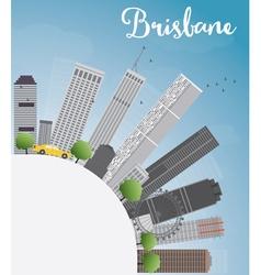 Brisbane skyline with grey building vector