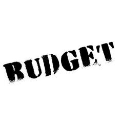 Budget stamp rubber grunge vector