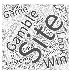 BWG online gambling guide Word Cloud Concept vector