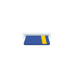 card atm icon flat element of vector image