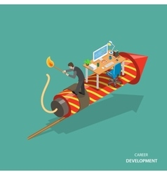 Career development isometric flat concept vector