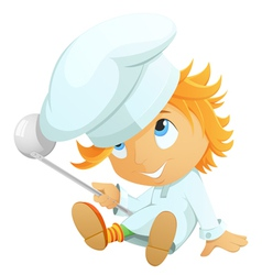 cartoon chef vector image