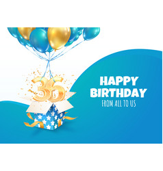 celebrating 36 th years birthday 3d vector image