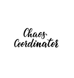 chaos coordinator inscription hand drawn vector image