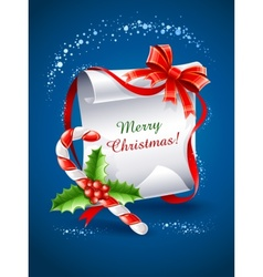 christmas greeting card with vector image