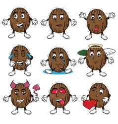 Coconut stickers vector