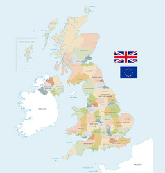 colorful map uk vector image