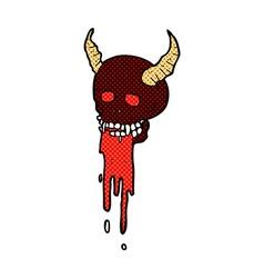Comic cartoon spooky halloween skull vector