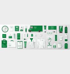 corporate identity template design branding vector image