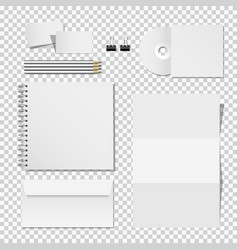corporate mockup set printing materials vector image