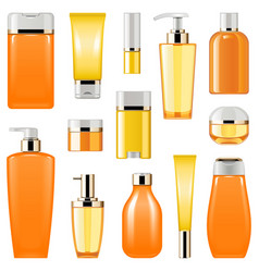 cosmetic packaging icons set 8 vector image